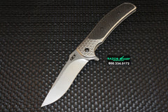 Zt Zero Tolerance 0600 RJ Martin Knife Carbon Fiber Flipper Stonewash