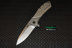 Zt Zero Tolerance 801 Rexford Titanium Flipper Knife Stonewash Plain