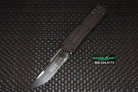 Microtech Navy Scarab Underwater S/E OTF Knife Tritium Tactical Black Serrated 182-2T