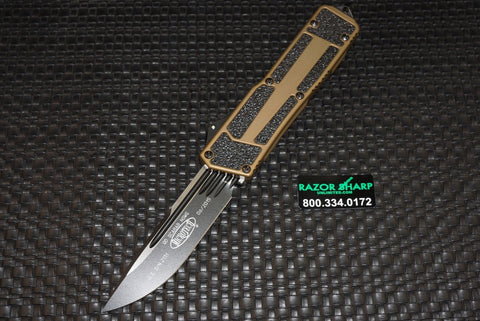 Microtech Navy Scarab Underwater S/E OTF Knife Tritium Tactical Black Plain 182-1T
