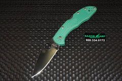 Spyderco C11FPGR Delica 4 Knife Green FRN Satin Flat Ground Plain