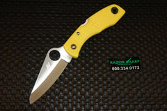 Spyderco C88PYL Salt I Yellow FRN Folding Knife Satin Plain Edge