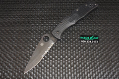 Spyderco C10PSBBK Endura 4 Knife Tactical Folder Black Serrated