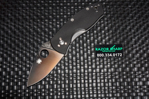 Spyderco C148GP Ambitious Folding Knife Satin Plain Edge