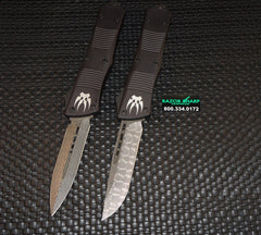 Microtech 142-143 Custom Damascus Combat Troodon OTF Knife Set of Two 142-143