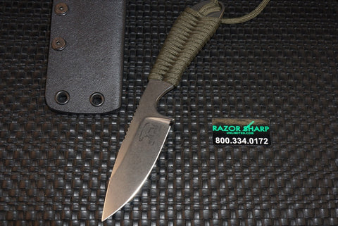 White River Knives Backpacker Fixed Blade OD Green Paracord S30V Kydex Sheath - WRBP-ODGRN