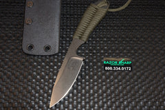 White River Knives Backpacker Fixed Blade OD Green Paracord CPM S35VN Kydex Sheath WRBP-POD