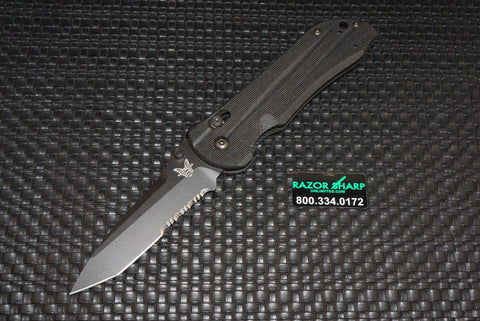 Benchmade 909SBK AXIS Stryker Tanto Knife Black Serrated