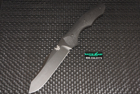 Benchmade 183BK Contego Osborn Fixed Blade Knife Black Plain
