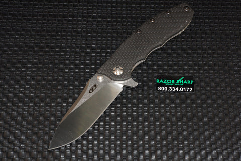Zt Zero Tolerance 0562CF Hinderer Knife Carbon Fiber Satin Plain CPM-20CV