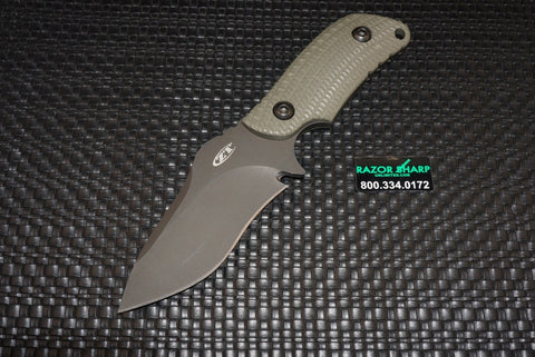 Zero Tolerance 0121 Ranger Green Strider Fixed Blade Knife Plain Discontinued