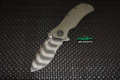 Zero Tolerance 0301ST Serrated Ranger Green Tiger Stripe Assisted Opening Knife ZT