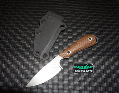 White River Knives M1 Caper Fixed S35VN Blade Burlap Micarta Handle Kydex Sheath