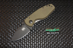 DPx HEAT/F Right Hand Frame Lock Knife OD Green G-10