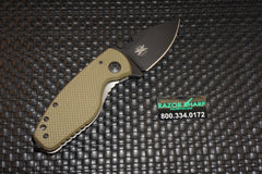 DPx HEAT/F Left Hand Frame Lock Knife OD Green G-10