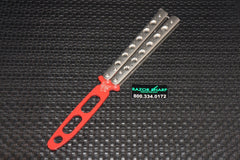 Benchmade 62T Balisong Knife Trainer Stainless Steel Butterfly (Red Dull)