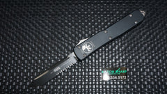 Microtech 121-2 Ultratech S/E OTF Automatic Knife Black Serrated Edge