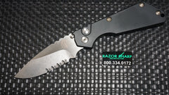 Strider 2402 Protech SNG Automatic Knife Black Aluminum Stonewash Serrated