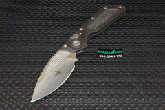 Marfione Custom DOC Killswitch Automatic Knife Carbon Fiber Tri-Tone Stonewash