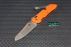 Benchmade 915-ORG Triage Rescue Manual Knife AXIS Lock Satin Plain Edge