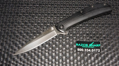 Kershaw Al Mar AM-3 Assisted Opening Knife Black G-10 Satin Plain