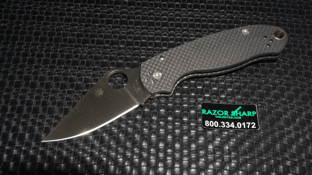 Spyderco C223CF90VP Para 3 Sprint Run Knife Carbon Fiber