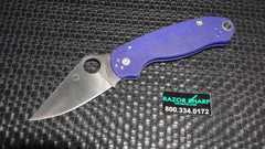 Spyderco C223GPDBL Para 3 Compression Lock Knife Dark Blue G-10 Satin S110V