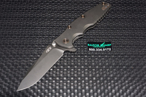 ZT Zero Tolerance 0392BWBRZ Factory Custom Knife Blackwash Plain