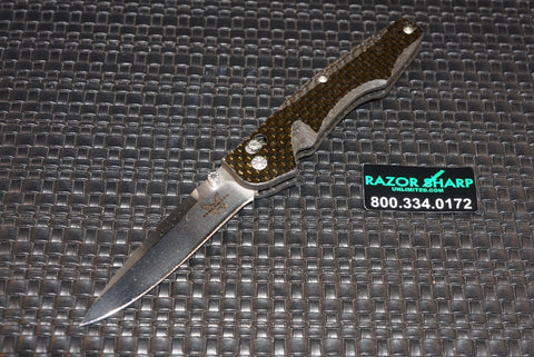 Benchmade 770CF Satin Plain Blade Knife Carbon Fiber - Pre-Production