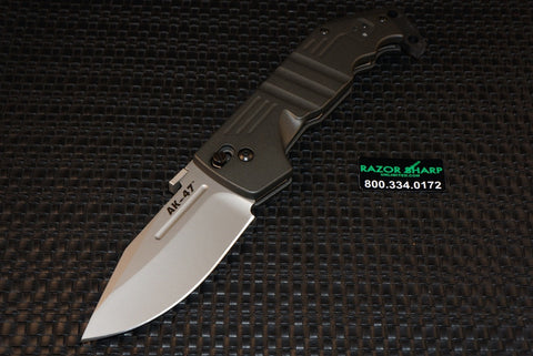 Cold Steel 58LAK AK-47 Ultra Lock Folding Knife Drop Point Plain Blade