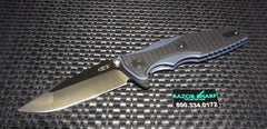 ZT-Zero Tolerance 0393 Rick Hinderer Framelock Black G-10 Knife Plain