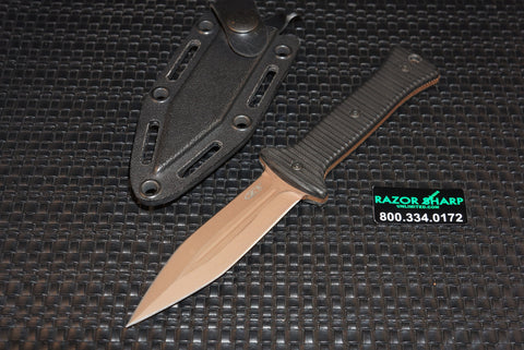 ZT Zero Tolerance 0150 Tactical Boot Knife Bronze Coated Plain Rare Discontinued
