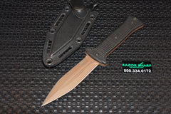 ZT Zero Tolerance 0150 Tactical Boot Knife Bronze Coated Plain