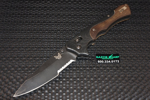 Benchmade 610SBK Blackwood Rukus AXIS Lock Knife Serrated