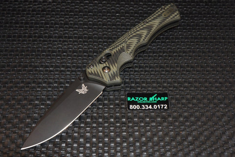 Benchmade 615BK-1401 Blackwood Mini-Rukus G-10 Black & Green 296/300