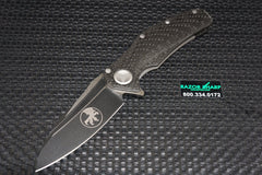 Microtech Matrix 165-1 Manual Flipper Knife Carbon Fiber Handle Black Plain