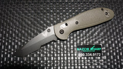 Benchmade 557SBKOD Green Mini Griptilian Tanto AXIS Knife CPM-S30V Black Serrated