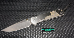 Chris Reeve Large Sebenza 21 CGG Knife Leopard Drop Plain Stonewash Edge