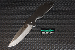 Kershaw 6034D2 Emerson CQC-6K Knife Drop Point D2 Stonewash Plain Edge