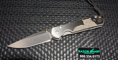 Chris Reeve Small Sebenza 21 CGG Knife Leopard Drop Plain Stonewash Edge