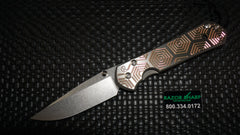 Chris Reeve Large Sebenza 21 CGG Knife Rose Hex Drop Plain Stonewash Edge