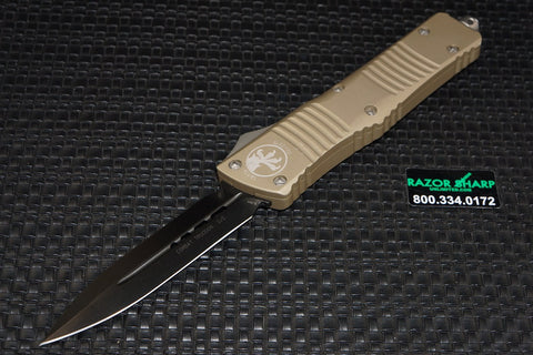 Microtech 142-1TA Tan Combat Troodon D/E OTF Automatic Knife Black Plain