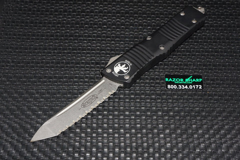 Microtech 144-12 Combat Troodon Tanto OTF Automatic Knife Full Serrated