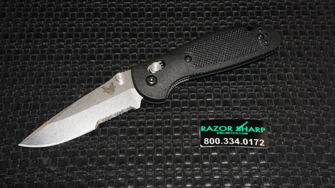 Benchmade 556S Mini Griptilian AXIS Lock Knife CPM-S30V Satin Serrated