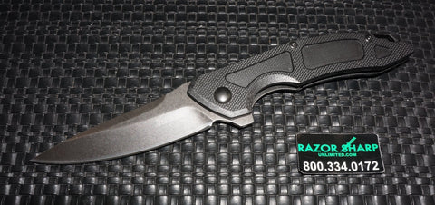 Kershaw 1170 Anso Method Liner Lock Knife Black G-10 Blackwash