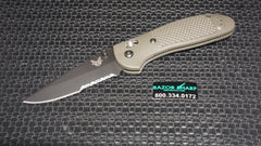Benchmade 551SBKOD OD Green Griptilian AXIS Knife Black S30V Serrated