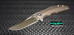 Zt Zero Tolerance 0609 RJ Martin Knife Titanium Flipper Satin Plain