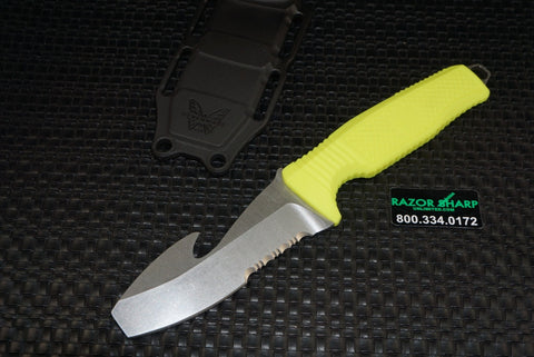Benchmade 112S-YEL Opposing Bevel H2O Dive Knife Yellow Satin Serrated