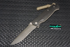 Microtech CMTX5 D/A Automatic Knife Carbon Fiber Black Serrated Rare