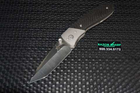 Greg Lightfoot Knife Suppressor Titanium Folder Carbon Fiber